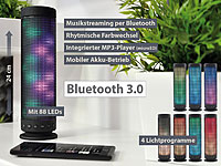 auvisio Lautsprecher & MP3-Player LSS-310 mit Bluetooth, 80 RGB LEDs, 20 Watt