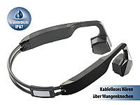 auvisio Wasserdichtes Headset BC-40.sh mit Bluetooth 4.0, Bone Conduction