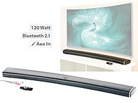 auvisio 2.1-HiFi-Soundbar MSX-550.cv für Curved-TV, 120 Watt, mit Bluetooth