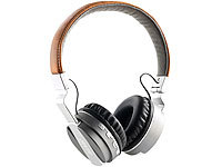 auvisio Faltbares On-Ear-Headset mit Bluetooth, Steuertasten, MP3-Player,Radio