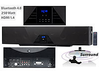 auvisio 6-Kanal-3D-Soundbar, 5.1-Surround-Sound, Bluetooth 4.0, HDMI, 250 Watt