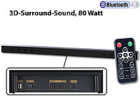 auvisio Bluetooth-Soundbar MSX-440 mit 3D-Sound-Effekt, 80 Watt; 5.1 Sourround Lautsprecher System 5.1 Sourround Lautsprecher System 5.1 Sourround Lautsprecher System 5.1 Sourround Lautsprecher System