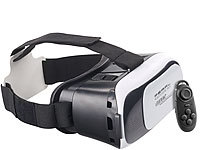 auvisio Virtual-Reality-Brille VRB58.3D und Mini-Game-Controller mit Bluetooth