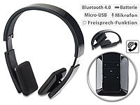 auvisio Faltbares On-Ear-Headset mit Bluetooth, Auto-Pairing, Multipoint, 30 m