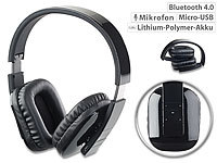 auvisio Faltbares Over-Ear-Headset, Bluetooth, Auto-Pairing, Multipoint, 30 m