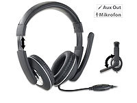 auvisio Gaming-Headset GHS-100 für PC, mit Klapp-Mikrofon, 2x 3,5-mm-Klinke; In-Ear-Stereo-Headsets mit Bluetooth In-Ear-Stereo-Headsets mit Bluetooth In-Ear-Stereo-Headsets mit Bluetooth In-Ear-Stereo-Headsets mit Bluetooth