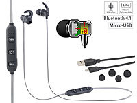 auvisio In-Ear-Headset mit Bluetooth, Fernbedienung & patentiertem Soundsystem