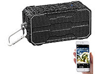 auvisio Outdoor-Lautsprecher mit Bluetooth, Freisprecher, MP3-Player, IPX6