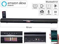auvisio Aktive WLAN-Multiroom-Soundbar, Bluetooth, komp. zu Amazon Alexa, 80 W