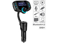 auvisio Kfz-DAB+-Empfänger, FM-Transmitter, Bluetooth, Freisprecher, AUX, USB; FM-Transmitter & Freisprecher mit MP3-Player & USB-Ladeports FM-Transmitter & Freisprecher mit MP3-Player & USB-Ladeports FM-Transmitter & Freisprecher mit MP3-Player & USB-Ladeports FM-Transmitter & Freisprecher mit MP3-Player & USB-Ladeports