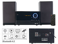 auvisio Micro-Stereoanlage, CD-Player, Radio, MP3-Player, Bluetooth, 60 Watt