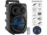 auvisio Mobile PA-Partyanlage, Bluetooth, MP3, USB, SD, Karaoke, UKW, 150 Watt