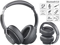 auvisio Premium-Over-Ear-Headset, Bluetooth, Active Noise Cancelling bis 25 dB