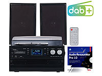 auvisio 5in1-Plattenspieler mit DAB+/FM-Radio, Bluetooth & CD-Player, 100 Watt