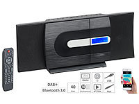 auvisio Vertikale Design-Stereoanlage, FM/DAB+, Bluetooth, CD, MP3, AUX, 40 W