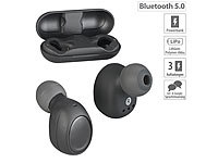 auvisio True Wireless In-Ear-Headset, Bluetooth 5, Ladebox, 19 Std. Spielzeit; In-Ear-Stereo-Headsets mit Bluetooth In-Ear-Stereo-Headsets mit Bluetooth In-Ear-Stereo-Headsets mit Bluetooth In-Ear-Stereo-Headsets mit Bluetooth