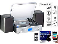 auvisio 5in1-Plattenspieler/Digitalisierer, CD, Bluetooth, Kassette, MP3, DAB+