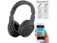 auvisio Over-Ear-Headset mit Bluetooth 5, MP3, FM, Akku, Auto Connect, 22 Std.
