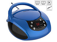 auvisio Tragbarer Stereo-CD-Player mit Radio, Audio-Eingang & LED-Display