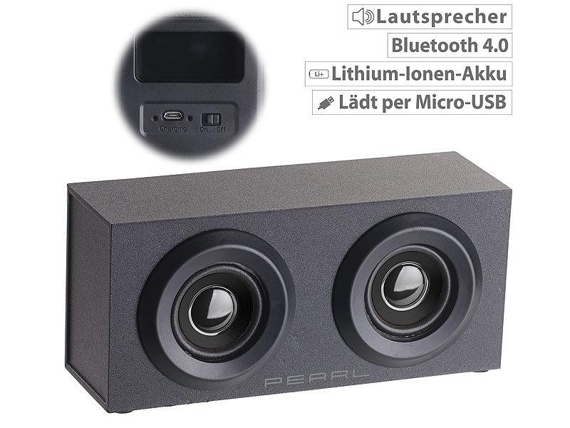 auvisio mobiler aktivlautsprecher im holzgeh use mss bluetooth 6 watt. Black Bedroom Furniture Sets. Home Design Ideas