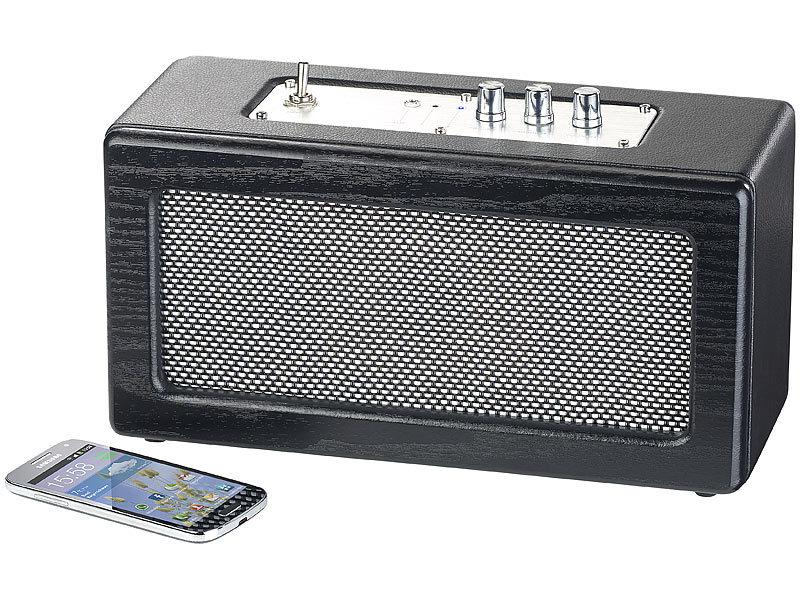 auvisio mobiler retro lautsprecher 40 watt versandr ckl ufer. Black Bedroom Furniture Sets. Home Design Ideas