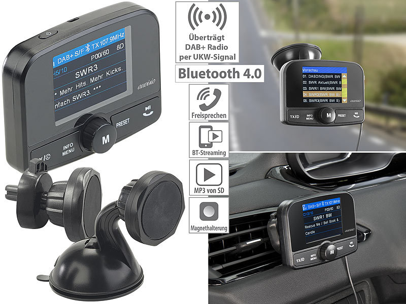 ; FM-Transmitter & Freisprecher mit MP3-Player & USB-Ladeports FM-Transmitter & Freisprecher mit MP3-Player & USB-Ladeports FM-Transmitter & Freisprecher mit MP3-Player & USB-Ladeports FM-Transmitter & Freisprecher mit MP3-Player & USB-Ladeports